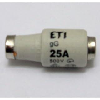 Sicherungspatronen a 5 StDII 500V 25A Gl