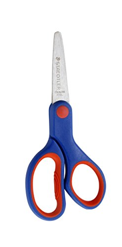 Imagen principal de Tijeras Noris Club Staedtler 96514NBK - Tijeras para niños diestros (14 cm, punta redondeada, mango ergonómico, acero inoxidable)