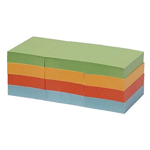 Post it Note Recycled Pastel Rainbow Mixed Colours 38 x 51mm 12 Pads Pack