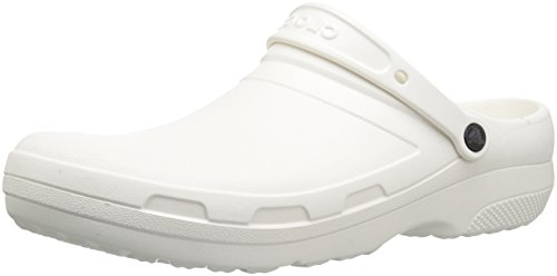 Crocs specialist ii clog, zoccoli unisex-adulto, bianco (white), 46/47 eu
