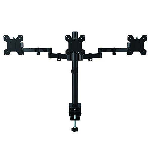 Suptek Fully variable Triple left arm Three LCD LED Monitor Desk holder Mount Bracket for 13