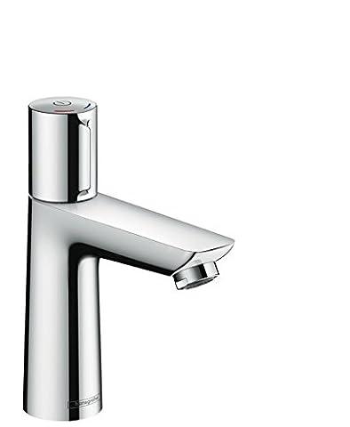 hansgrohe Talis Select E Waschtischmischer, Komfort-Höhe 110mm mit Zugstangen-Ablaufgarnitur,