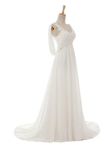 Vimans - Robe - Trapèze - Femme Blanc