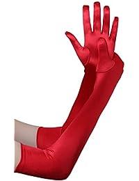 BABEYOND Damen Handschuhe Satin Classic Opera Fest Party Audrey Hepburn Handschuhe 1920er Stil Handschuhe Elastisch Erwachsene Größe Ellenbogen bis Handgelenk Länge 52/55cm