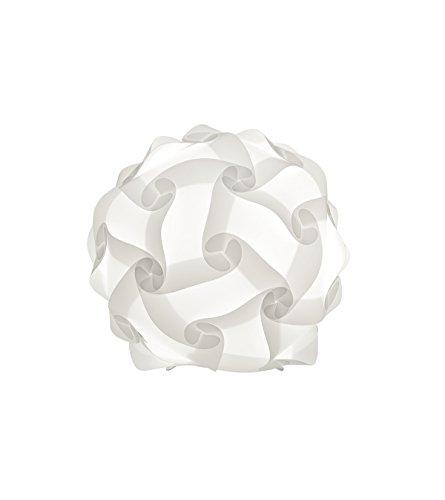 Reality, Lampe de table, Glory 1xE14, max.40,0 W Plastique, Blanc, Corps: metal, Blanc Ø:30,0cm, H:32,0cm IP20,Interrupteur de cordon