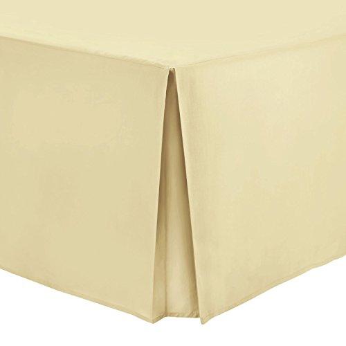 Bett-Volant Unifarben 100% Baumwollperkal, 100 % Baumwolle, weich gold, Super King
