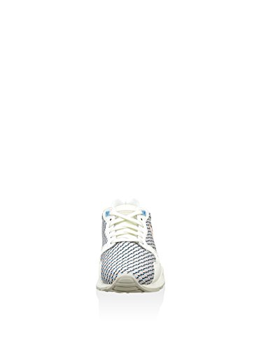 Le Coq Sportif Lcs R900 W Geo Jacquard, Baskets Basses Femme Blanc Cassé - Blanco / Azul