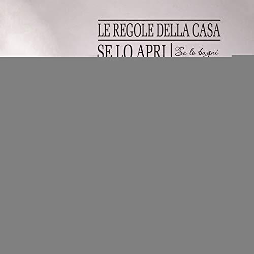 Italienische Schlafzimmer Dekor (Wandaufkleber Kinderzimmer wandaufkleber 3d Art Design Günstige Heimtextilien Italienische Regeln Wörter Haus Dekor für Wohnzimmer Schlafzimmer)