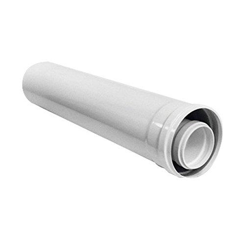 Ariston Thermo 3318093 prolunga 80/125 Maschio/Femmina l1000 per fumisteria Caldaia a condensazione, Bianco