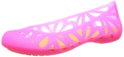 Crocs Adrina 3, Ballerine donna Rosa (Vibrant Pink/Cosmic Orange)