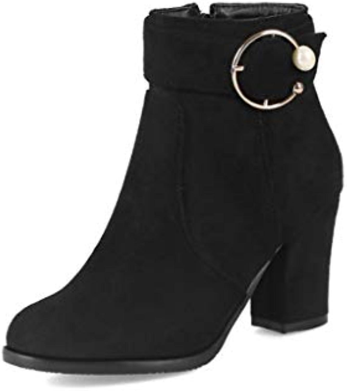 Autunno e Inverno Retro Tacco Grosso con Tacco martellato Stivali Corti Confort | A Buon Mercato  | Uomo/Donne Scarpa