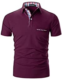 4232d22e6af16 STTLZMC Casual Polo Hombre Mangas Corta Camisetas Deporte Algodón Clásico  ...