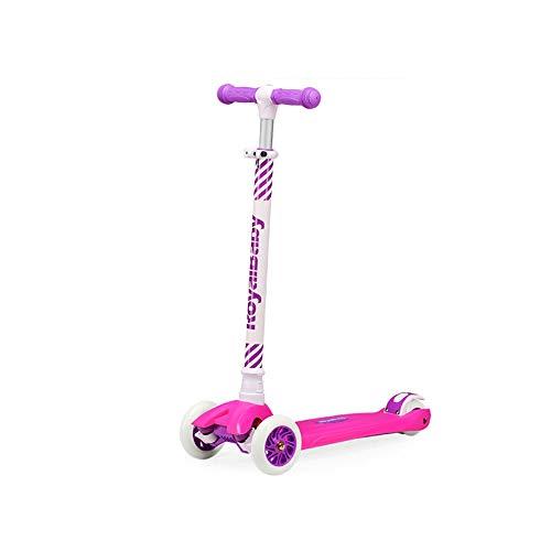 KPPTO Kinder Roller, 2-8 Jahre alt einstellbar Flash Allrad Pedal Kind Schaukel Auto, Candy Girl/Froschkönig, hohe Qualität, Beste Kindergeschenk Beautiful Life (Color : Candy Girl)