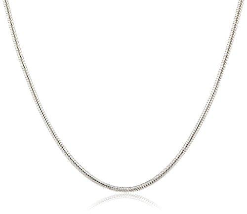 InCollections Damen-Halskette 925/000 Sterlingsilber Schlangenkette 1,2/45 cm (925 Halskette)