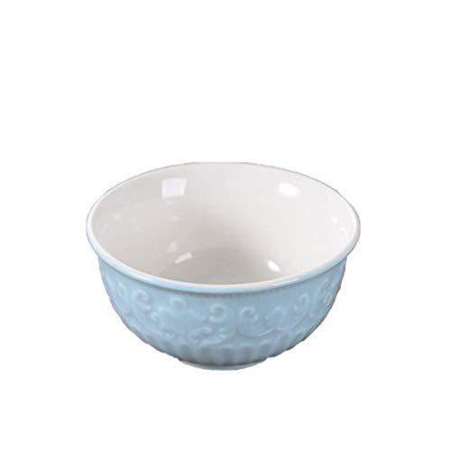 Xiao-bowl3 Keramik Haushalt Schüssel Lebensmittel Keramik Schüssel Nudeln Müslisuppe Schüssel Salat Obst Geschirr 4er Set Fluted Sauce