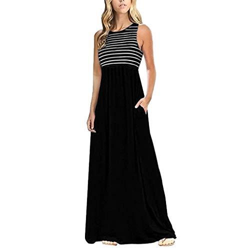 Vintage Kleid Kleider Sommerkleid Damen Sommer Jersey Sexy Schöne Abend Boho Maxi Lang Elegant Party Retro Festlich Tunika Swing Abendkleid Strandkleider -