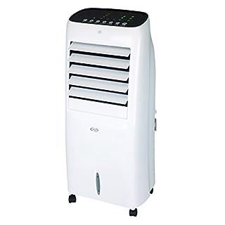 Argoclima HUSKY Verdunstungskühler mit LED-Display und Tasten aus gebürstetem Aluminium, Weiß