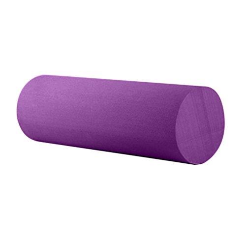 HCFKJ Yoga Pilates Massage Fitness Studio Feste Glatte Yoga SäUlen Rolle 45Cm (LILA)