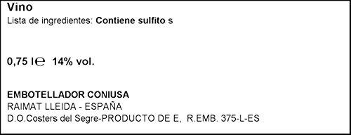 Raimat Cabernet Sauvignon - Botella De Vino Castell 0,75 L