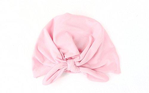 Swallowuk Neugeborenes Baby Weiches Nettes Turban Knoten Hut (rosa)