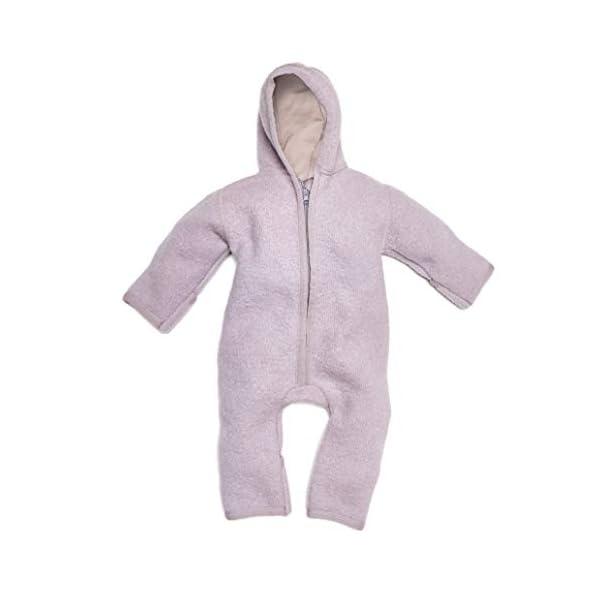 Halfen Wollwalk - Mono para bebé de lana virgen orgánica, 100% fabricado en Alemania, color lila 1