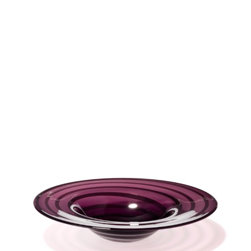 Leonardo 052476 Schale Twist 36 cm lila mit weißen Streifen