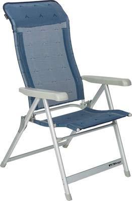 Berger Klappsessel Campingstuhl Luxus, blau, Aluminium, bis 120 kg belastbar, Rückenlehne 5-Fach verstellbar