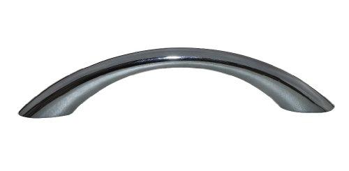 2 x 'D'schnittige Effekt Griffe metallic gunmetal 96 mm Schranktür Schiebergriffen Swish. (Gun Türgriff)