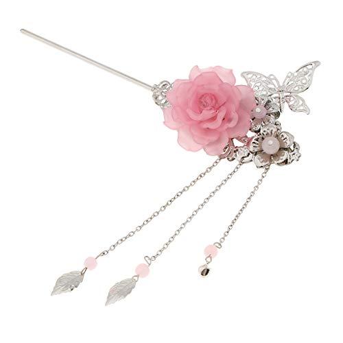 B Baosity Mollette Capelli Farfalla Modello Per Benessere Matrimonio Memoriale Turismo Rosa chiaro 16