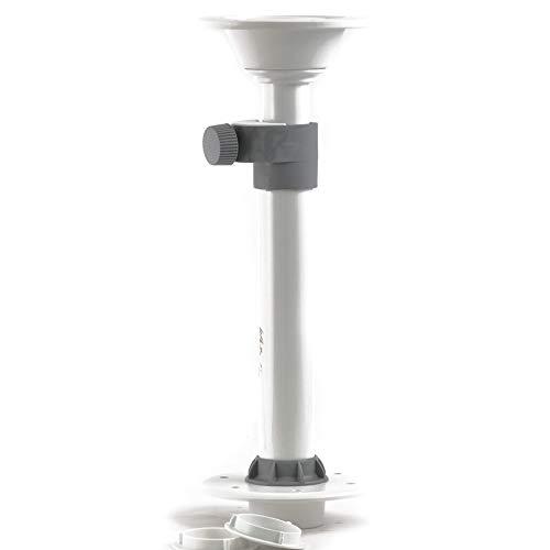 wellenshop Einzeltischfuß Tischbein Teleskopbein, abnehmbar, höhenverstellbar Boot Wohnmobil - Höhe Fuß-unterteil