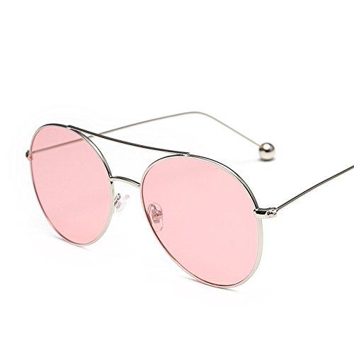 Sunyan Sonnenbrille Frau tide star Brillen elegante neue Treiber Persönlichkeit Sonnenbrille Frau rundes Gesicht Korea 3328, Silverbox