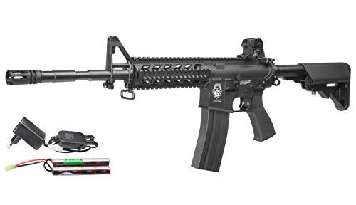 G & G GR15 RIS Raider L BlowBack Komplettset AEG Softair 6mm BB schwarz -
