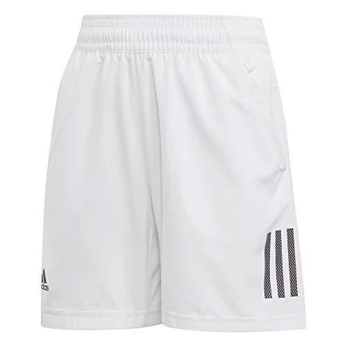 adidas Jungen Club 3-Streifen Shorts, White/Black, 176