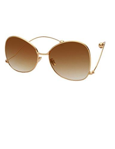 Gekrümmte Bein-Kugel-Sonnenbrille Der Einfluß der Leute-runden Gesichts-großen Sonnenbrillen ( Farbe : 4 )