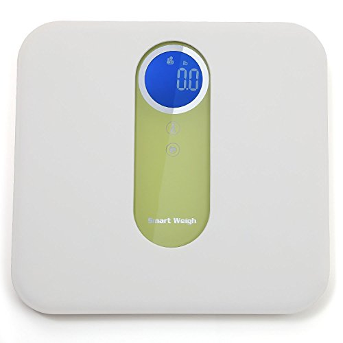 Smart Weigh MBS10 Mother and Baby Digital Bath Scale with Ultra Wide Platform Step-on Technology and LCD Display