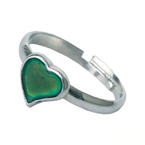 Inception Pro Infinite Magic Ring Stimmung Stimmung Ring mit Herz-Symbol Farbe ändern abhängig von Stimmung Geschenkidee Mädchen Jungen einstellbar - Kinder Ringe Stimmung