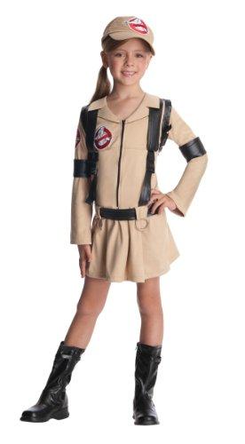 Rubie's Offizielles Ghostbusters Mädchen-Kostüm mit Rucksack - Kinder klein