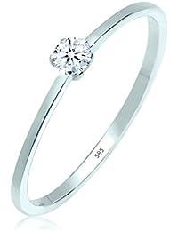 Elli PREMIUM para mujer-RING anillo de compromiso de diamantes de 585 (0,