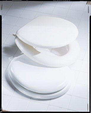Bemis/Mayfair 11-A006 Basic Soft Round Toilet Seat-BONE SOFT ECONOMY SEAT (Wc-sitz Round Soft)