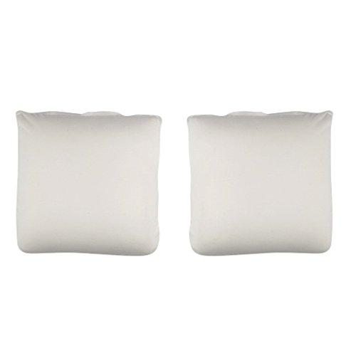 The White Willow mousse à mémoire carré d'oreiller forme chamber Coussin blanc insert ensemble de 4 pièces de 12 \\