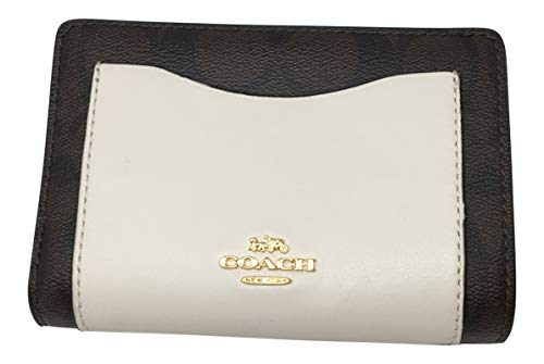 Coach Colorblock Logo Medium Corner Zip Wallet Brown Neutral F27147