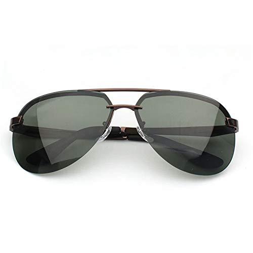 Sonnenbrillen Mode Männliche Sonnenbrille Frosch Spiegel die Sonnenbrille Radfahren im Freien Sportbrille Sonnenbrille Männer und Frauen polarisierte Sonnenbrille ( Farbe : Grün , Größe : Free size )