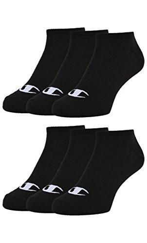 Champion 6pk Sneaker Socken Chaussettes Mixte, Noir, 43-46 -