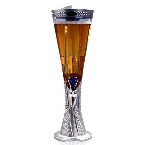 Jueven Bierkanone 1,5/2/3 Liter Weinturm Weinsäule, Bar KTV Luminous Red Wine Separator Getränkeautomat (Color : Silver, Size : 2l)