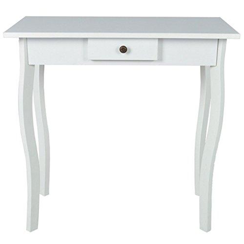 vidaXL Konsolentisch Telefontisch Flurtisch Schubladentisch Tisch MDF Weiß