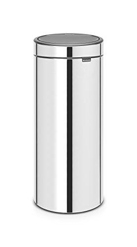 Brabantia Poubelle Touch Bin Unie New, 30 L - Inox brillant
