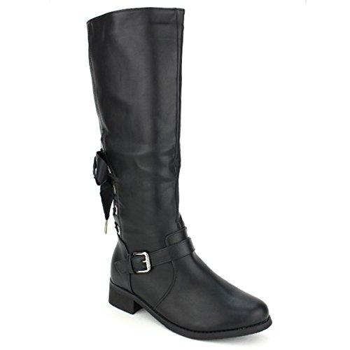 Chaussures Botte Lacet Cm Tania Noir À Femme Cendriyon Cavalière 61qw8