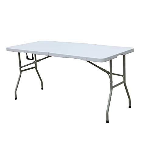 soges Klapptisch Campingtisch Faltbarer Gartentisch aus Aluminium Keine Montage und leicht zu tragen,150 * 70 cm,HP-152CZ