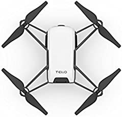 DJI Tello Drone with 5MP HD Camera 720P Wi-Fi FPV 8D Flips Bounce Mode Quadcopter Stem Coding Newest Professional Camera Drone, White