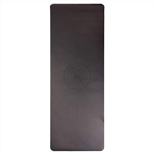 Bodhi Design Yogamatte Phoenix Mat, schwarz mit Yantra